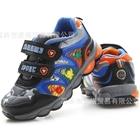 รองเท้าผ้าใบไดโนเสาร์พ่นไฟ-สีเทาเข้ม-(6-คู่/แพ็ค)