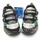 รองเท้าผ้าใบไดโนเสาร์พ่นไฟ-สีเขียว-(6-คู่/แพ็ค)