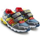 รองเท้าผ้าใบลายการ์ตูนประดับไฟ-สีเทา-(6-คู่/แพ็ค)