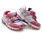 รองเท้าผ้าใบลายการ์ตูนประดับไฟ-สีชมพู-(6-คู่/แพ็ค)