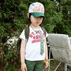 เสื้อยืดแขนสั้นสีขาว-ลายไทด์-(5size/pack)