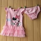 เดรสแขนสั้น-Minnie-Mouse-สีชมพู-(5ตัว/pack)