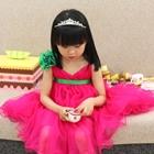 เดรสแขนกุด-Princess-สีชมพูบานเย็น-(5ตัว/pack)
