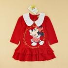 เดรสแขนยาว-Minnie-Mouse-สีแดง-(5ตัว/pack)