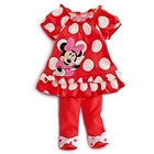 ชุดเสื้อกางเกงติดกัน-Minnie-สีแดง(5-ตัว/pack)