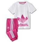 ชุดเสื้อกางเกง-Adidas-สีชมพู-(10-ตัว/pack)