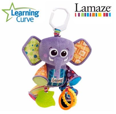 ตุ๊กตาห้อยช้างน้อย Lamaze สีม่วง (3 ตัว/แพ็ค)