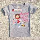 เสื้อยืดคอกลมลิงแดนซ์-สีเทา-(5-ตัว/pack)