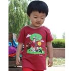 เสื้อยืดคอกลมลิงน้อยและเพื่อนสีแดง-(5-ตัว/pack)