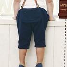 กางเกงขาสามส่วนสายเอี๊ยม-สีน้ำเงิน-(5-ตัว/pack)