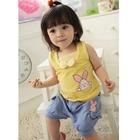 ชุดเสื้อกางเกงกระต่ายน้อย-สีฟ้าเหลือง-(4-ตัว/pack)