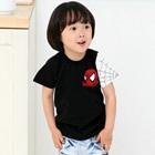 เสื้อยืดแขนสั้น-Spiderman-สีดำ-(5size/pack)