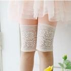 กางเกงเลกกิ้งขาสามส่วนลูกไม้-สีส้ม-(5-ตัว-/pack)
