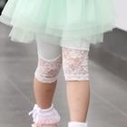 กางเกงเลกกิ้งขาสามส่วนลูกไม้-สีเขียว-(5-ตัว-/pack)