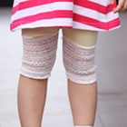 กางเกงเลกกิ้งขาสามส่วนลูกไม้-สีเหลือง(5-ตัว-/pack)