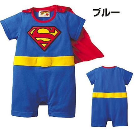บอดี้สูท Superman สีฟ้า (4 ตัว/pack)