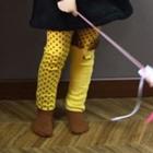 กางเกงเลกกิ้งแมวเหมียว-สีเหลือง(5-ตัว-/pack)