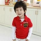 เสื้อโปโลแขนสั้น-Beach-Boy-สีแดง-(5size/pack)