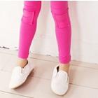 กางเกงเลกกิ้งปะหน้า-สีชมพู-(5-ตัว-/pack)