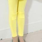 กางเกงเลกกิ้งปะหน้า-สีเหลือง-(5-ตัว-/pack)
