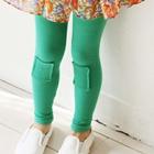 กางเกงเลกกิ้งปะหน้า-สีเขียว-(5-ตัว-/pack)