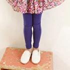 กางเกงเลกกิ้งปะหน้า-สีม่วง-(5-ตัว-/pack)