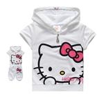 ชุดเสื้อกางเกง-Hello-Kitty-สีขาว-(5-ตัว/pack)