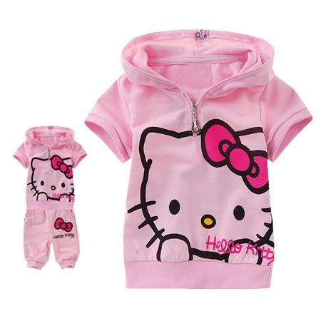 ชุดเสื้อกางเกง Hello Kitty สีชมพู (5 ตัว/pack)