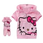 ชุดเสื้อกางเกง-Hello-Kitty-สีชมพู-(5-ตัว/pack)