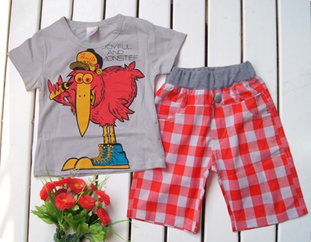 ชุดเสื้อกางเกง Joy Ful สีเทา (5 ตัว/pack)