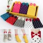 ถุงเท้าเด็กแฟชั่นลายจุด-คละสี-สีสดใส(20-คู่-/pack)