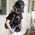 เสื้อยืดแขนสั้น-ABC-สีดำ-(5size/pack)