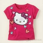 เสื้อยืดแขนสั้น-Kitty-Love-สีแดง--(10-ตัว/pack)