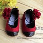 รองเท้าเด็กแทงโก้-สีแดงดำ-(6-คู่/แพ็ค)