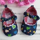 รองเท้าเด็กยีนส์หัวใจ-(6-คู่/แพ็ค)
