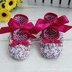 รองเท้าเด็กบัลเล่ต์ดอกไม้โบว์ชมพู-(6-คู่/แพ็ค)