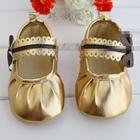 รองเท้าเด็ก-Zara-ติดโบว์-สีทอง-(6-คู่/แพ็ค)