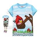 เสื้อยืดAngry-Bird-นั่งชิงช้าสีฟ้าขาว-(6size/pack)