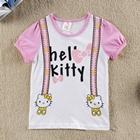 เสื้อแขนสั้น-Hello-Kitty-สายเอี๊ยม-(6-ตัว/pack)