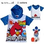 เสื้อแขนสั้น-Red-Bird-มีฮูด-สีน้ำเงิน-(6-ตัว/pack)