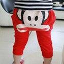 กางเกงขาสามส่วน paul frank สีแดง(10 ตัว/pack)