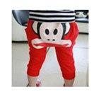 กางเกงขาสามส่วน-paul-frank-สีแดง(10-ตัว/pack)