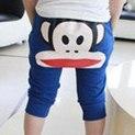 กางเกงขาสามส่วน-paul-frank-สีฟ้า(10-ตัว/pack)