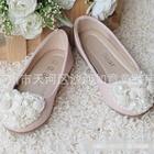 รองเท้าเจ้าหญิงไข่มุก-สีชมพู-(s30-35)-(6คู่/แพ็ค)