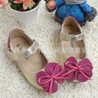 รองเท้าโบว์ผีเสื้อ-สีเงินลายงู-(s30-35)(6คู่/แพ็ค)