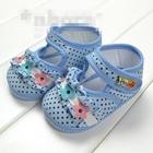 รองเท้าเด็กดอกไม้ลายจุด-(2-คู่/แพ็ค)