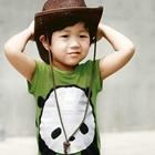 เสื้อยืด-Panda-สีเขียว-(5size/pack)