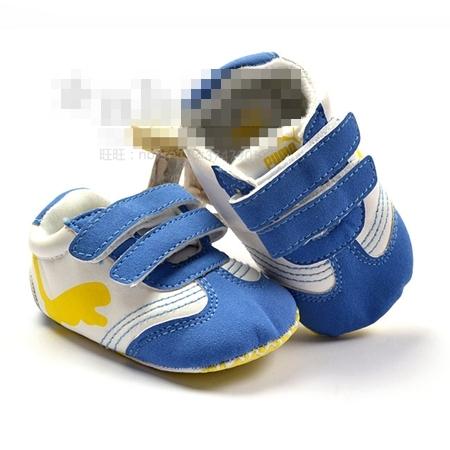รองเท้าผ้าใบ PUMA เสือน้อย สีฟ้า (3 คู่/แพ็ค)