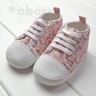 รองเท้าผ้าใบพิมพ์ลายดอกไม้-สีชมพู-(2-คู่/แพ็ค)