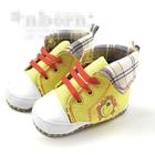 รองเท้าผ้าใบหุ้มข้อสิงโต-สีเหลือง-(3-คู่/แพ็ค)